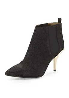 Lanvin Lizard-Embossed Ankle Boot, Black