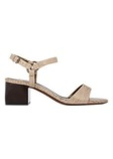 Lanvin Lizard-Stamped Ankle-Strap Sandals