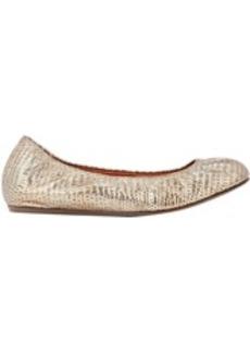 Lanvin Lizard-Stamped Ballet Flats