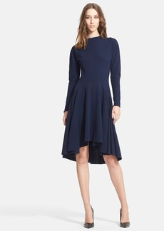 Lanvin Long Sleeve High/Low Jersey Dress