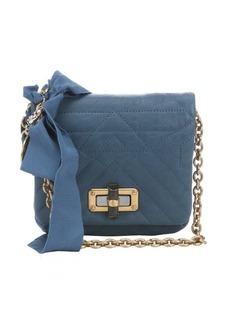 Lanvin medium blue quilted leather 'Happy Mini Pop' crossbody bag