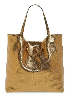 Lanvin 'Medium Carry Me' Snake Embossed Metallic Leather Tote