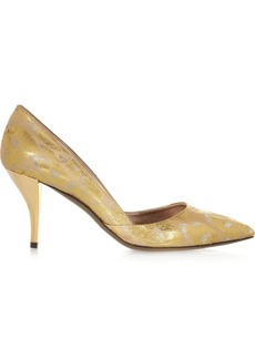 Lanvin Metallic brocade pumps