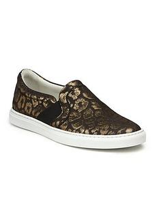 Lanvin Metallic Leopard Jacquard Skate Sneakers