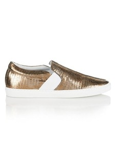 Lanvin Metallic lizard-effect trainers