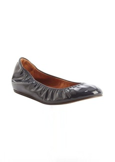 Lanvin midnight blue patent leather ballet flats