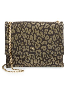 Lanvin 'Mini Sugar' Metallic Leopard Crossbody Bag