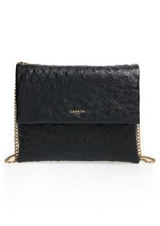 Lanvin 'Mini Sugar' Ostrich EmbossedCalfskinCrossbody Bag
