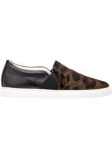 Lanvin Mixed-Material Slip-On Sneakers