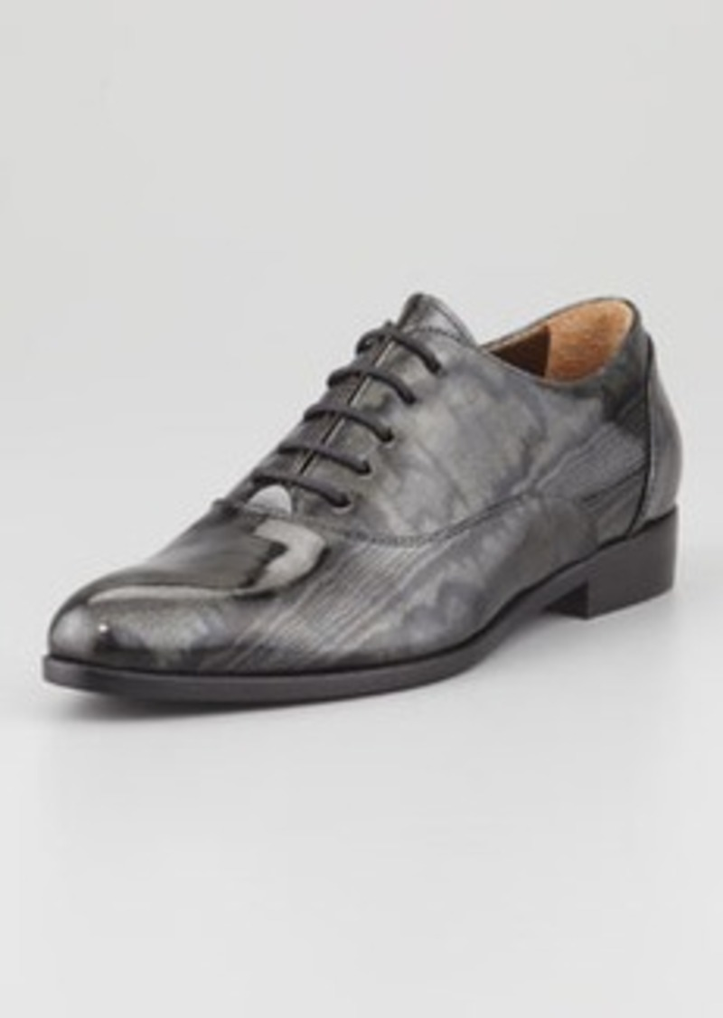 Lanvin Moiré Patent Oxford, Black