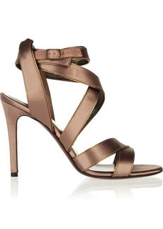 Lanvin Multi-strap satin sandals