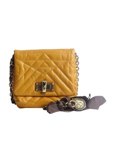 Lanvin mustard quilted leather 'Happy Mini Pop' bag