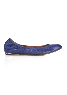 Lanvin Ostrich-effect leather ballet flats