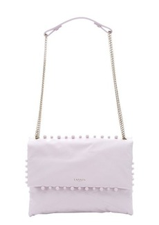 Lanvin pale pink leather 'Sugar' pearl detail medium shoulder bag