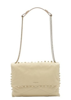 Lanvin pale yellow lambskin medium 'Sugar' pearl trim shoulder bag