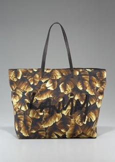 Lanvin Palm-Print Tote, Marron-Black