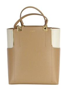 Lanvin Partition Leather Two-tone Tote Handbag