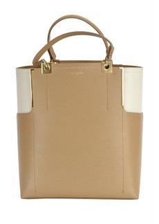 Lanvin Partition Leather Two-tone Tote Handbag