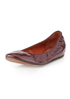 Lanvin Patent Leather Ballerina Flat, Aubergine
