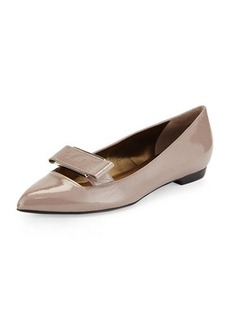 Lanvin Patent Pointed Buckle Flat