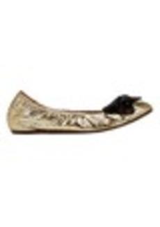 Lanvin Pearl & Bow Embellished Ballet Flats