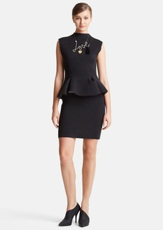 Lanvin Peplum Waist Neoprene Dress