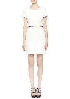 Lanvin Pierced-Waist Dress, Ecru