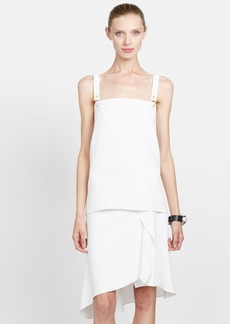 Lanvin Pin Detail Satin Tank