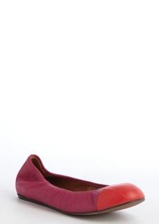 Lanvin pink leather cap toe ballet flats