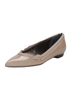Lanvin Pointed Ballerina Flat, Beige