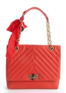 Lanvin poppy orange quilted leather medium 'Happy' chainlink shoulder bag