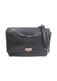 Lanvin Pre-Owned: black soft calfskin 'Happy' shoulder bag