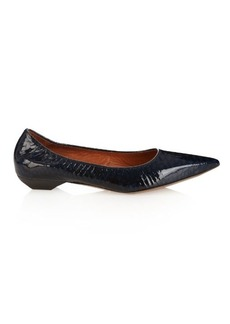Lanvin Python-effect patent-leather pumps