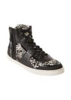 Lanvin Python-Jacquard High-Top Sneakers