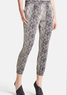 Lanvin Python Print Silk Crepe Jogging Pants