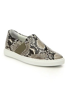 Lanvin Python Skate Sneakers