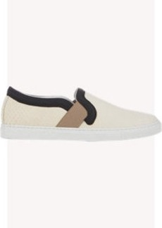 Lanvin Python Slip-On Sneakers