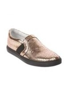 Lanvin Python-Stamped Slip-On Sneakers