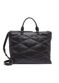 Lanvin Quilted Sugar Tote Bag, Black