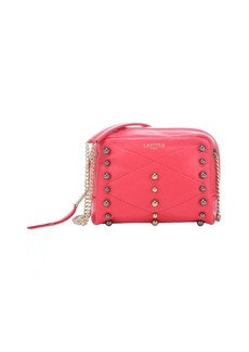 Lanvin raspberry leather 'Baby Sugar' mini studded shoulder bag