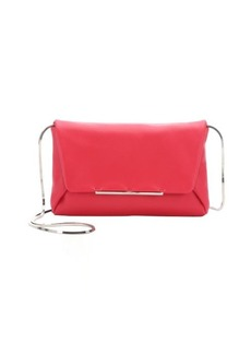 Lanvin raspberry leather 'Mai Tai' convertible chain shoulder bag