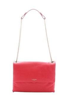 Lanvin raspberry quilted lambskin 'Sugar' medium shoulder bag