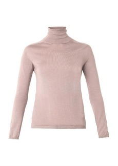 Lanvin Roll-neck cashmere and silk-knit sweater