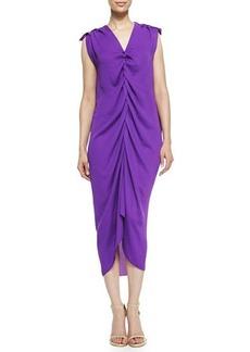 Lanvin Ruched Front Dress, Purple