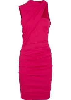 Lanvin Ruched textured mini dress