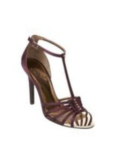 Lanvin Satin Nail-Head T-strap Sandals