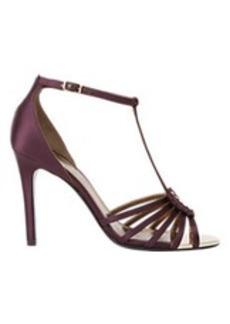 Lanvin Satin Nail-Head T-strap Sandals