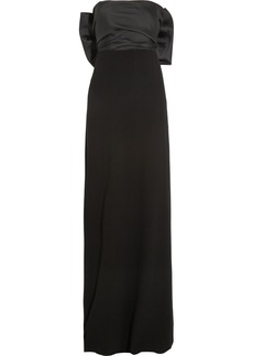 Lanvin Satin-twill and crepe gown