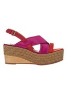 Lanvin Satin Wedge Espadrille Sandals