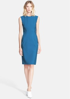 Lanvin Seamed Techno Milano Knit Sheath Dress